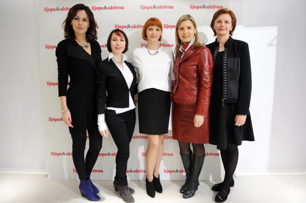 spisateljica Milana Vlaović, nutricionistica Dijana Gluhak, glavna urednica časopisa L&A Livia Čveljo, psihologinja Tanja Pureta i liječnica Sanja Toljan